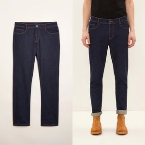 🆕 Frank & Oak Dylan Slim Fit Jeans in Navy